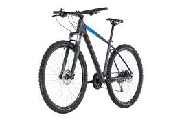 21 bicycle cube aim race gray blue cube mountain bicycles mtb