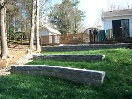 landscape retaining wall ideas timber design pictures image of rock simple for slope