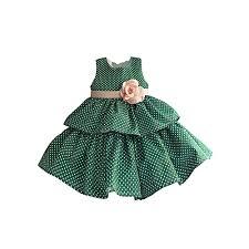 Buy Generic Green Pink Polka Baby Girls Dress Best Price