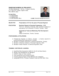 Chemical Engineer Resume Best R Prajapati CV For Process Engineer For Oil And Gas Website