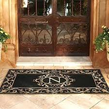 front door mat monogrammed mats personalized pertaining to remodel 4