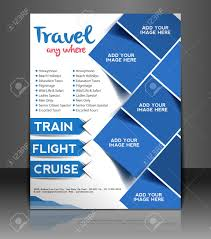 Poster Templet Travel Center Flyer Poster Template Design Royalty Free Cliparts