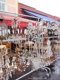 crystal chandeliers at paris flea market