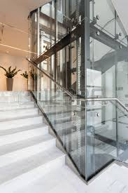 glass elevator inside. view of glass elevator in modern building photo inside c
