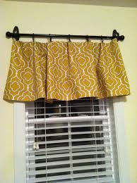 Diy No Sew Curtains Picture Only Diy No Sew Valance Hung With Command Hooks And