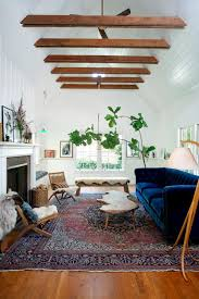 blue velvet furniture. Exellent Furniture Eclectic Living Room With Blue Velvet Sofa Inside Furniture HGTVcom