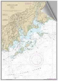 Peel And Stick Nautical Chart Of Norwalk Islands Ct