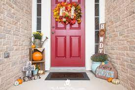 small front porch for fall