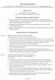 Free Sample Investment Banking Resume Example Visit To Reads