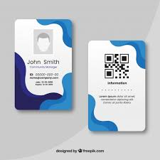 Id Card Templates Free Id Card Template Vector Free Download