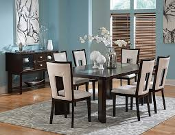 white and black dining room sets. Amazon.com - Steve Silver Delano Table W 18 In. Leaf \u0026 Cracked Glass Insets In Espresso Tables White And Black Dining Room Sets