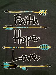 faith hope love wallpaper. Exellent Love Faith Hope Love  Arrow TShirt GRAY In Wallpaper S