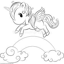 Cute Unicorn 7 Coloring Pages Card Cucioli Coloring Pages