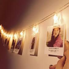 Đèn LED Dây Có Kẹp Để Treo Hình Ảnh Để Trang Trí Quà Tặng Ngày Lễ Tình Nhân  Trang Trí Phòng Người Nổi Tiếng Trên Internet Tiệc Giáng Sinh Tường Đèn Dây