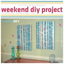 on diy stencil canvas wall art with weekend diy project stenciled canvas wall art