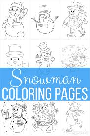 Free coloring pages of kids heroes. 60 Best Snowman Coloring Pages For Kids Free Printables
