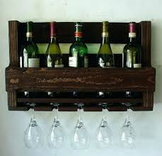 wall mount wine rack with glass holder wine racks wall mounted wine rack and glass holder simply rustic 6 bottle