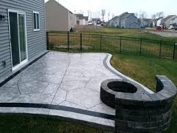 concrete patios with fire pits ideas