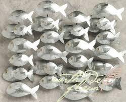 32 aluminium metal fish wall decor from