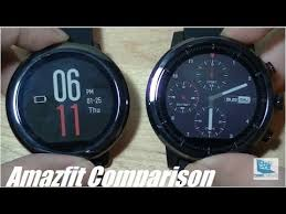 Comparison: <b>Amazfit Pace</b> vs. <b>Stratos</b> (<b>Pace</b> 2) Smartwatch - YouTube