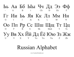 Russian Alphabet Chart Learn The Russian Alphabet At A Glance With This One Page