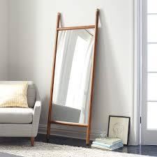 white leaning floor mirror. Mid Century Dowel Mirror Pecan West Elm With Leaning Floor Decor 16. White