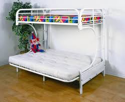 white single bunk bed with mattress