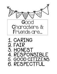 best character education images behavior  enjoy this printable characteristics of what makes up a good friend and character