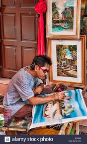 local oil painting artists melaka malaysia heritage city local artist painting with oil on