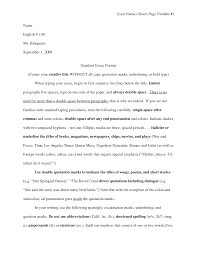 Sweetlooking What Is The Format For An Essay Magnificent Standard