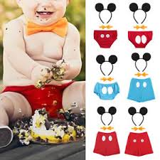 Mickey Mouse Baby Boy 1st Birthday Cake Smash Outfit Photo Prop