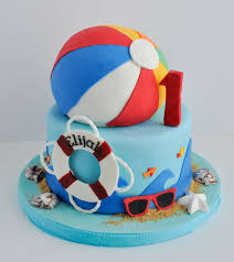 Beach Ball Cake Decorations Simple 32 Best Micaiah Beach Ball Party Images On Pinterest Anniversary