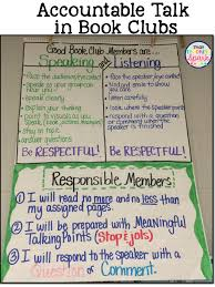 Book Talk Anchor Chart Accountable Talk Freebie That Teaching Spark