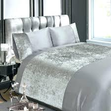 white and silver bedding grey duvet cover black bed sets linen with ice velvet ap