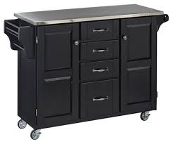 hawthorne collections natural wood cart with stainless steel top transitional kitchen islands and kitchen carts by homesquare