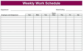 Work Schedule Calendar Template Microsoft Weekly Schedule Template Excel Weekly Schedule