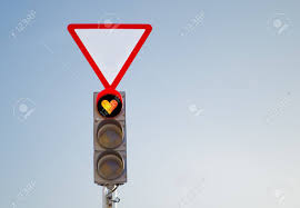 What Is Blue Light On Traffic Signal Red Signal Of A Traffic Light In The Form Of Heart Against The