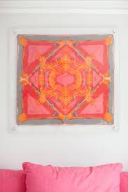 acrylic framed scarf such a good idea for art work