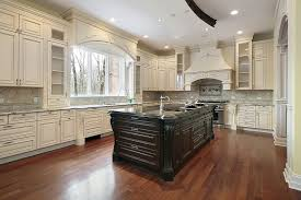 antique white kitchen cabinets with dark island off floors grey wood kitchens and countertops walls light