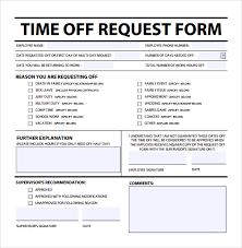 Time Off Request Form Template Microsoft Tagesspartipp Com
