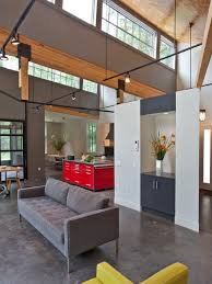 suspended lighting. delighful suspended trendy concrete floor and gray living room photo in boston intended suspended lighting
