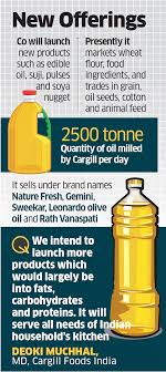 Cargill Stock Chart Edible Oil Cargill Foods Plans Launches To Expand India