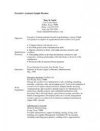Resume Template Objective For Executive Assistant Career With 89