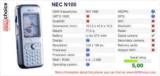 NEC N100 :: GSMchoice.com