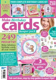 Birthday Card Sample Enchanting Make Birthday Cards Sampler By Immediate Media Co Magazines Issuu