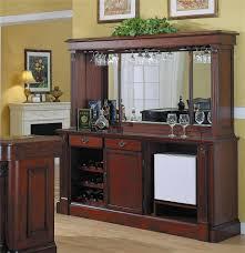 Back bar furniture with hutch