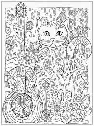 Online Coloring Pages For Adults Cats Musical Makeup Designs The
