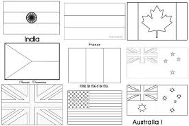 Printable Coloring Pages Of Flags Around The World World Flag