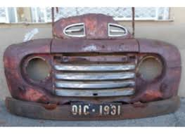 road vintage car front end great for wall decor was