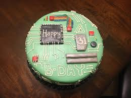 Motherboard Cake I Made For My Husbands Birthday Today My First